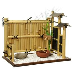 Miniature Garden Furniture | Oriental Furniture Zen Bamboo Mini Rock Garden: Decor : Walmart.com