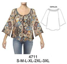 Blouse Styles, Blouse Designs, Sewing Blouses, Diy Shorts, Casual Outfits, Fashion Outfits, Dress Sewing Patterns, Blouse Dress, Apparel Design