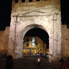 Arco d'Augusto, ancient gate to Rimini #TBDI2013 - Instagram by @TomFakler Photo