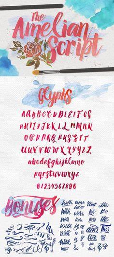 Amelian Script Typeface by irwanwismoyo on Creative Market