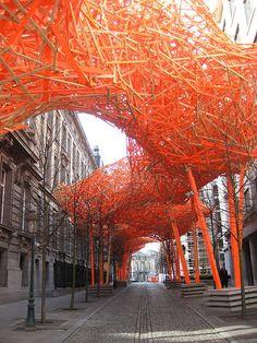 """/""""The sequence"""" de Arne Quinze à Bruxelles."""