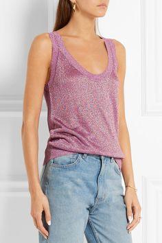 Missoni | Metallic crochet-knit tank | NET-A-PORTER.COM