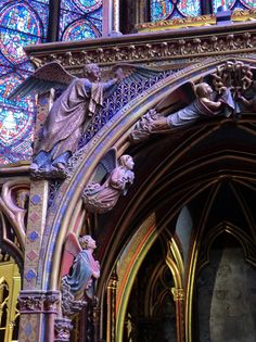 Paris, Sainte Chapelle, Entry, Stained Glass