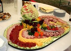 15 inspirations for ham, salami and cheese platters - Kochrezepte - Wurst Party Platters, Party Buffet, Food Platters, Cheese Platters, Meat Appetizers, Appetizer Dips, Snacks Für Party, Party Treats, Amazing Food Art
