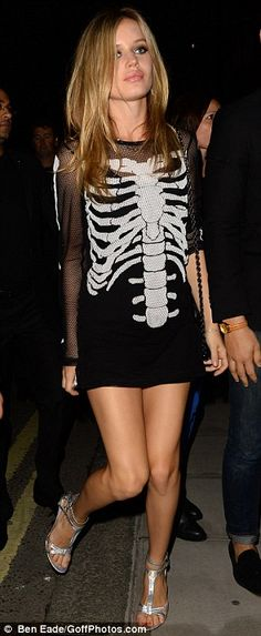 Skeleton dress as worn by Georgia May Jagger. Love this for Halloween.