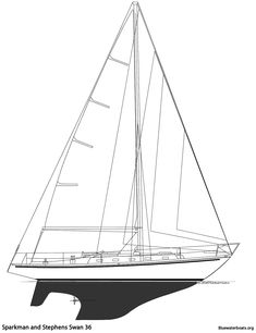 The Sparkman and Stephens Swan 36 Sailboat