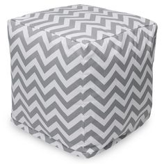 Gray Chevron Small Cube