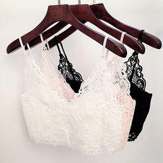 Damen Mode BH Crochet Spitze Kurz Crop Top Zipper Bralet Bra Vest in Kleidung & Accessoires, Damenmode, Blusen, Tops & Shirts   eBay
