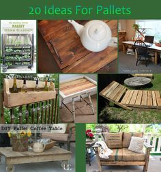 20 diy projects using pallets Diy Projects Using Pallets, Pallet Projects, Pallet Ideas, Diy Projects To Try, Wooden Projects, Pallet Crafts, Pallet Art, Rustic Crafts, Pallet Boards
