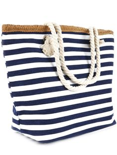 Navy Blue or Red Stripe Print Beach Tote Accessory Bag | Things I ...