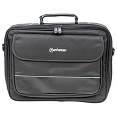 Manhattan Times Square 15.4 Widescreen Laptop Briefcase - Top load laptop briefcase fits most widescreens up to 15.4