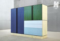contemporary wardrobe pastel colour furniture raw wood