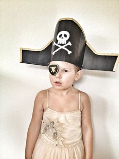 This fantastic pirate costume has to be one of our favourite craft ideas for children looking for adventures on the high seas. This tutorial was created especially for the AlexandAlexa