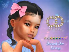* 8 swatches Found in TSR Category 'Sims 4 Female Earrings' Sims 4 Game Mods, Sims 4 Mods, Sims 4 Children, 4 Kids, Toddler Cc Sims 4, Toddler Girl, Sims 4 Piercings, Sims 4 Black Hair, Sims 4 Cc Kids Clothing