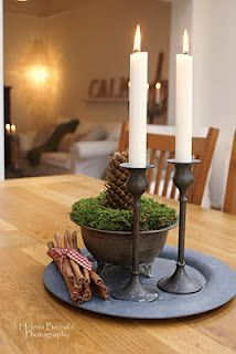 I want to do this! What a great fall/winter centerpiece