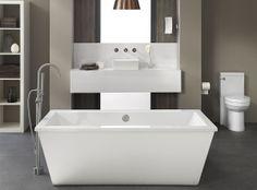DXV Gallery  Bathroom Modern Contemporary design bath and faucet   ligbad  badkamer kraan modern design #BlogtourNYC