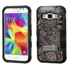 Amazon.com: Samsung Galaxy Core Prime case - [Damask]( Black / Black)UNIQUITI(TM) cell phone armor cover [TuMax] dual layer hybrid hard skin guard ultra protective shell (for Samsung Galaxy Core Prime Prevail LTE G360 ): Cell Phones & Accessories