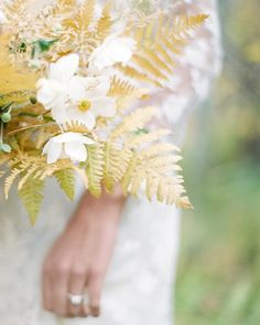 Love that golden fern. Bouquet detail by Sage Floral | photo Jacquelyn Hayward