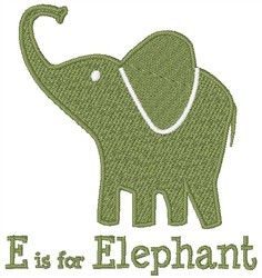 E Is For Elephant Embroidery Designs, Machine Embroidery Designs at EmbroideryDesigns.com