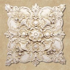 Fiorenza Antique Ivory Wall Plaque