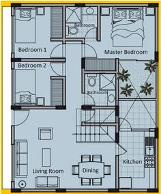 Free one story house plans 8 x 10 meters