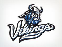 Sports logo design By: Lindsey Kellis Meredith / Link Creative. Vikings #sports, #logo