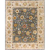 Found it at Wayfair - Rajput Denim Blossom Area Rug