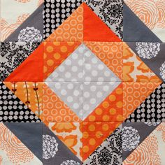 Half Square Triangle Quilt Block - I like the mix of lights and darks in this.