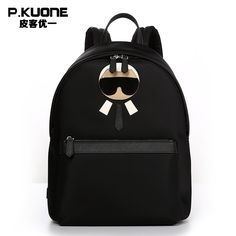 P.KUONE Feminine Canvas Backpack Man Famous Luxury Brand Male School Bag Designer Travel Schoolbag For Girl Satchel Shoulder Bag #Affiliate