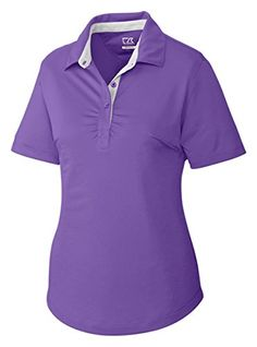 Cutter  Buck Womens Performance Wicking Golf Shirt Valor XXL -- Continue to the product at the image link.