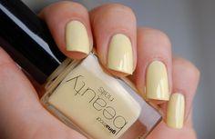 Gina Tricot Beauty - Sunny #nailpolish Yellow Nail Polish, Yellow Nails, Pastel Yellow, Pink Nails, Gina Tricot, Pink Candy, Nail Inspo, Lilac, Swatch