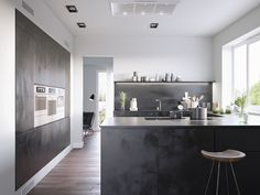 Dark Isnu0027t The First Theme That Comes To Mind When Designing A Kitchen.  Stereotypical Assumptions Are Of White And Bright Kitchens, Matched By  Light Wood ...