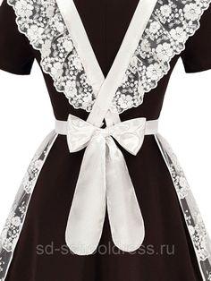 """Кружевной фартук """"Premium"""" №26-2 (белый): продажа, цена в Чебоксарах. школьная форма от """"""""School Dress"""" производственная компания одежды и аксессуаров для школьников и выпускников"""" - 410768248 School Fashion, Russia, Formal Dresses, Inspired Outfits, Maids, How To Wear, Aprons, Inspiration, Formal Gowns"""