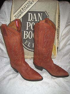 Nice Vintage Marlboro Cowboy Western Dan Post Boots Sz 6 Women's Only $115. Cowboy Boots never go out of style.