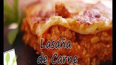 Muchas Recetas - YouTube Lasaña de Carne y champiñones