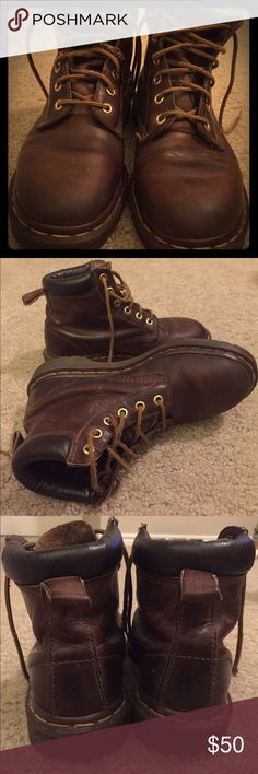 """Dr. Martens vintage brown """"1460"""" ankle boot. Women's Dr. Martens ankle boots. In great condition, very well cared for. UK size 5 which is a women's size 7 US. Dr. Martens Shoes Ankle Boots & Booties"""