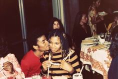 a young Michael Jackson and Janet Jackson