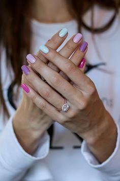 Pastel Blue Nails, Bleu Pastel, Bright Nails, Purple Nails, Pastel Colors, Spring Nail Colors, Spring Nail Art, Spring Nails, Diy Nails