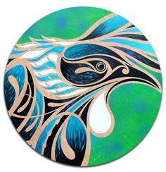 Tui round — Shane Hansen Abstract Sculpture, Sculpture Art, Ice Sculptures, Bronze Sculpture, Frank Morrison Art, Acrylic Painting Canvas, Canvas Art, Maori Patterns, Round Canvas