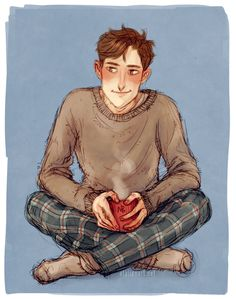 My OC Remington in cold weather pajamas. I do this thing (outfit prompts for ocs). I got some messages on tumblr with what people would like to see I'm gonna be slow with drawing those but there'll...