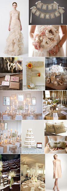 Burlap chic wedding