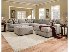 Corinthian Living Room Josephine 4 Piece Sectional G62210 - Kittle's Furniture - Indiana and Ohio