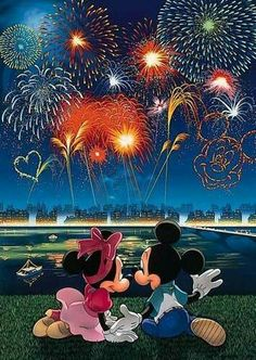 Tenyo Disney Characters Mickey Mouse and Minnie Mouse Fireworks, Glow in the Dark 108 pcs. We sell Japan jigsaw puzzles and gifts to worldwide. Mickey Mouse And Friends, Disney Mickey Mouse, Minnie Mouse, Disney Disney, Mickey Mouse Wallpaper, Cute Disney Wallpaper, Disney Images, Disney Pictures, Disney Cartoons