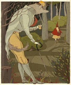 Illustrations for old fairy tales by Julia Valeeva, via Behance - Such beautiful line work!!!