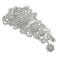 Rosalia Swarovski Luxe Bridal Comb - Bridal Jewellery - Crystal Bridal Accessories