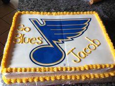 St Louis Blues cake