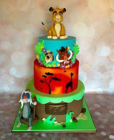 Lion king cake • gâteau roi lion Disney .  Cake design • cake decorating •