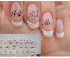 I like the sparkly on the french manicured nail tips! (no words).