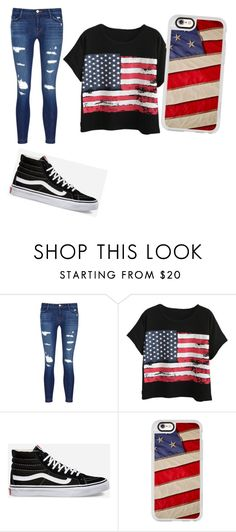 """""""Who had a good 4th of July?"""" by mia-renee-18 ❤ liked on Polyvore featuring J Brand, Chicnova Fashion, Vans and Casetify"""