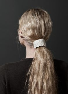 """Jujumade + BrookandLyn Scalloped Ceramic Ponytail Barrette. Part of the """"BrookandLyn now in LA"""" Collaboration series."""